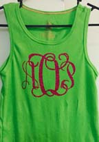 Entwined Vine Monogram on tank