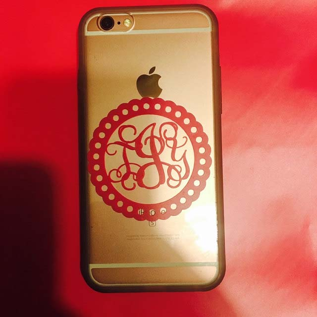 iphone monogram
