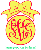 Bow Topper for Monograms 200px