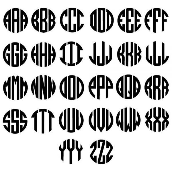 Circle Monogram Alphabet SVGmonograms