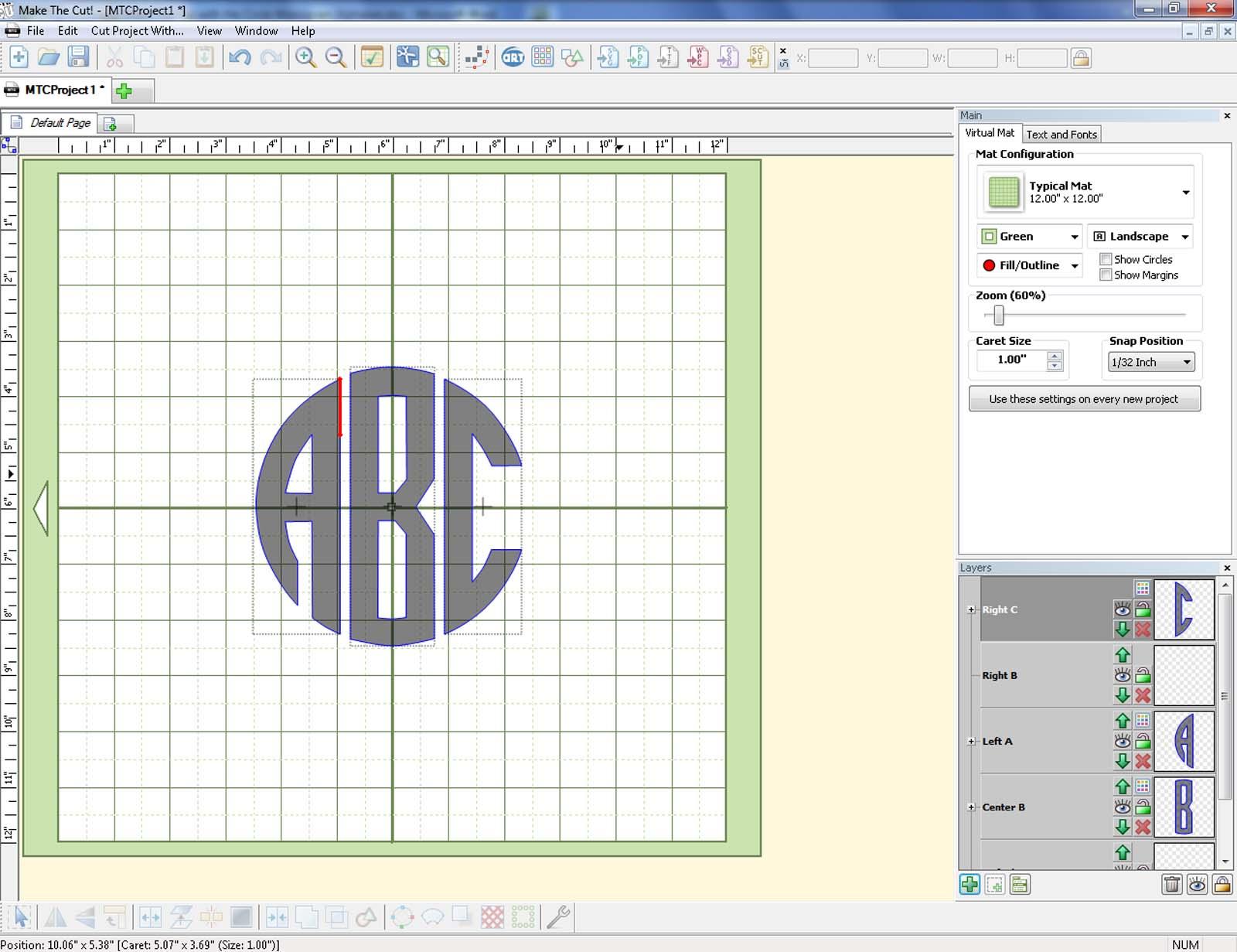 Make The Cut >> Using Make The Cut With The Circle Monogram Alphabet Svgmonograms