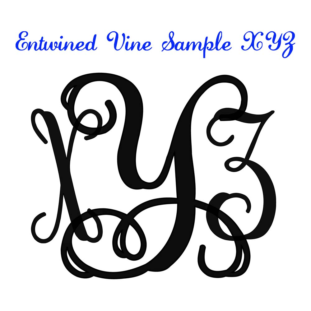 Click here to download Sample Entwined Vine Monogram Files XYZ