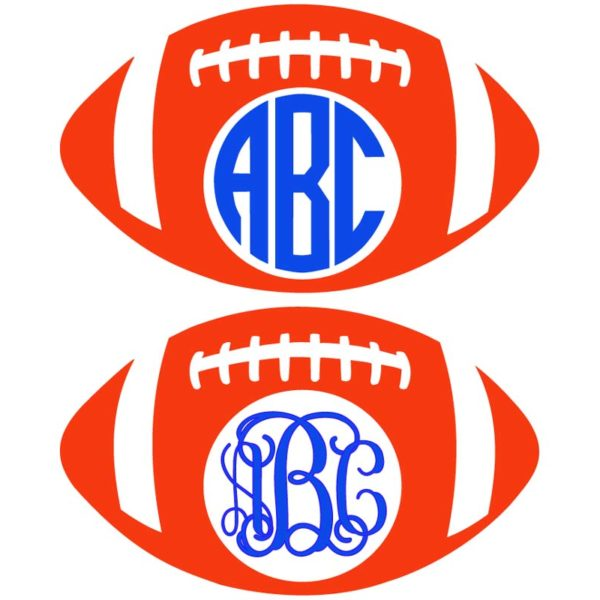 Football Frames for Monograms