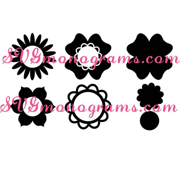 SVGmonograms Flowers and Flower Frames for Monograms