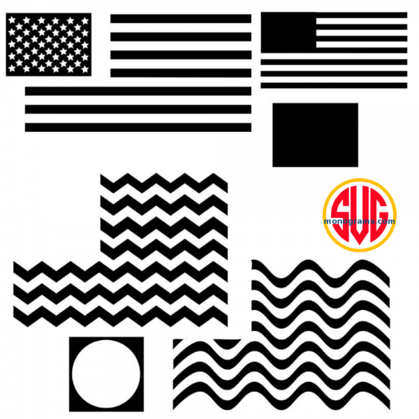 American Flag and Flag Monogram Frames Files