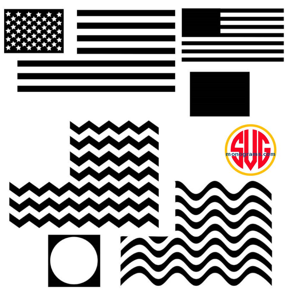 Patriotic American Flag Monogram Frames SVG DXF EPS – SVGmonograms
