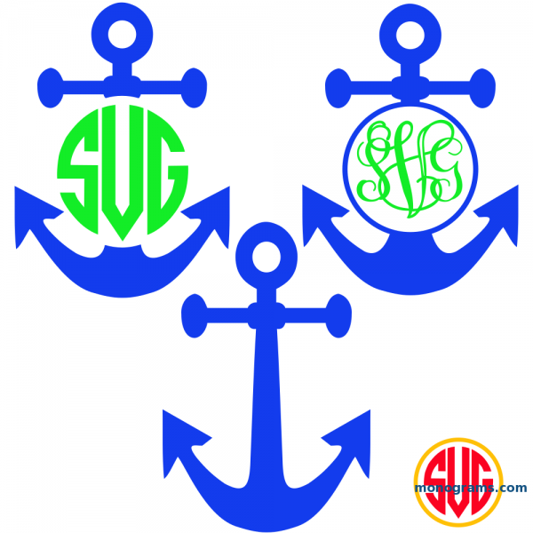 Anchor and Anchor Monogram Frames