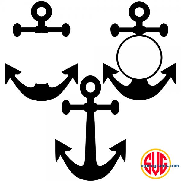 Anchor and Anchor Monogram Frames Files