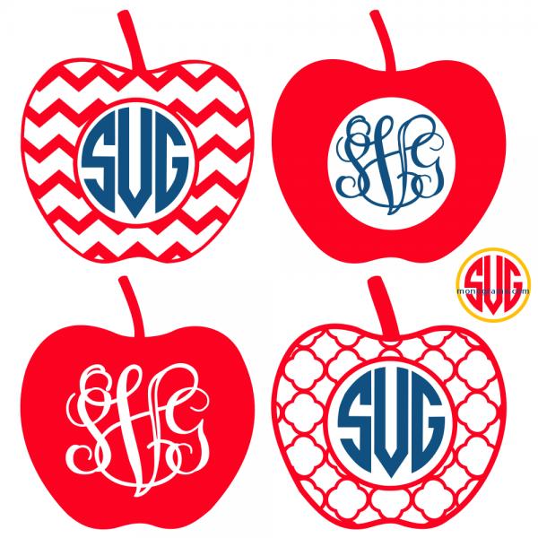 Apple and Apple Monogram Frames