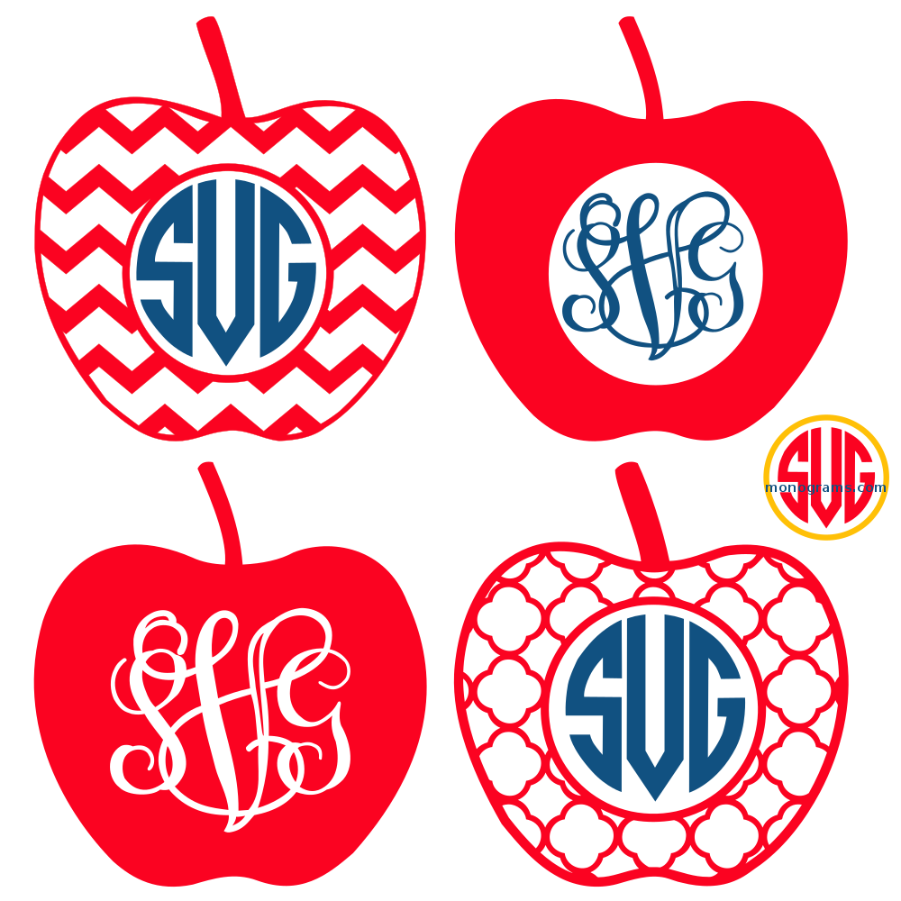Apple frames for monograms svg dxf eps svgmonograms