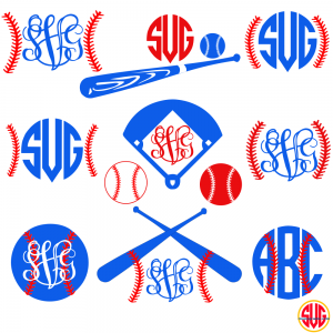 Baseballs and Baseball Monogram Frames