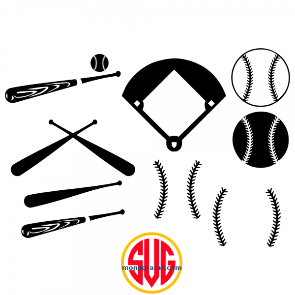 Baseballs and Baseball Monogram Frames Files