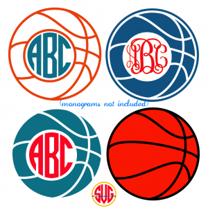 Basketball and Basketball Monogram Frames