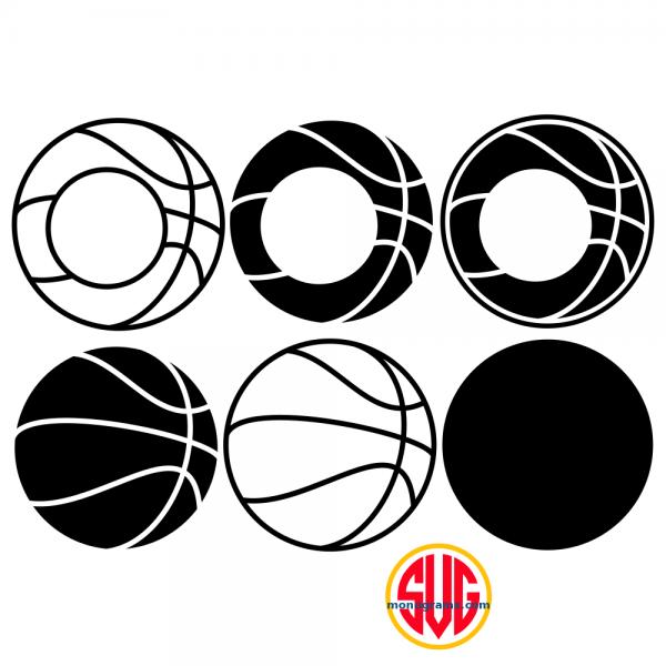 Basketball and Basketball Monogram Frames Files