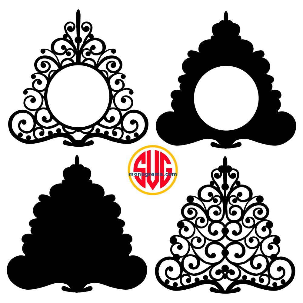 Christmas Tree Frames for Monograms SVG DXF EPS – SVGmonograms
