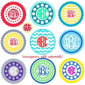 Circle Frames for Monograms