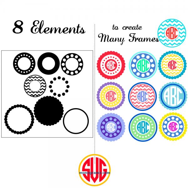 Circle Frames for Monograms Creation