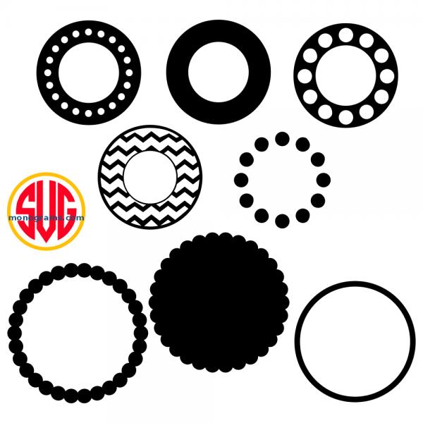 Circle Frames for Monograms Files