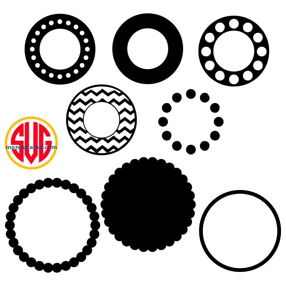 Circle Frames For Monograms SVG DXF EPS – SVGmonograms