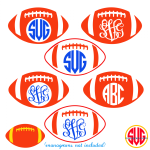 Football and Football Monogram Frames