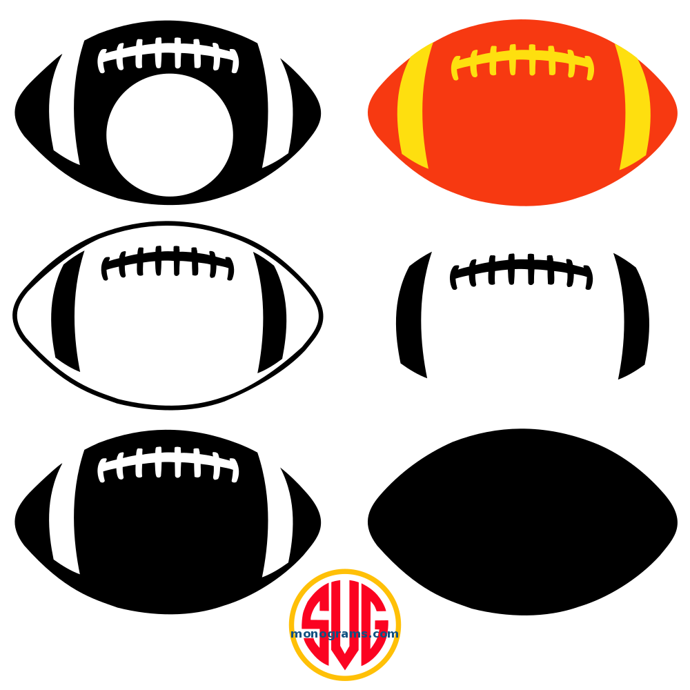 football and football monogram frames files