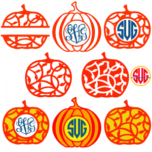 Pumpkins and Pumpkin Monogram Frames