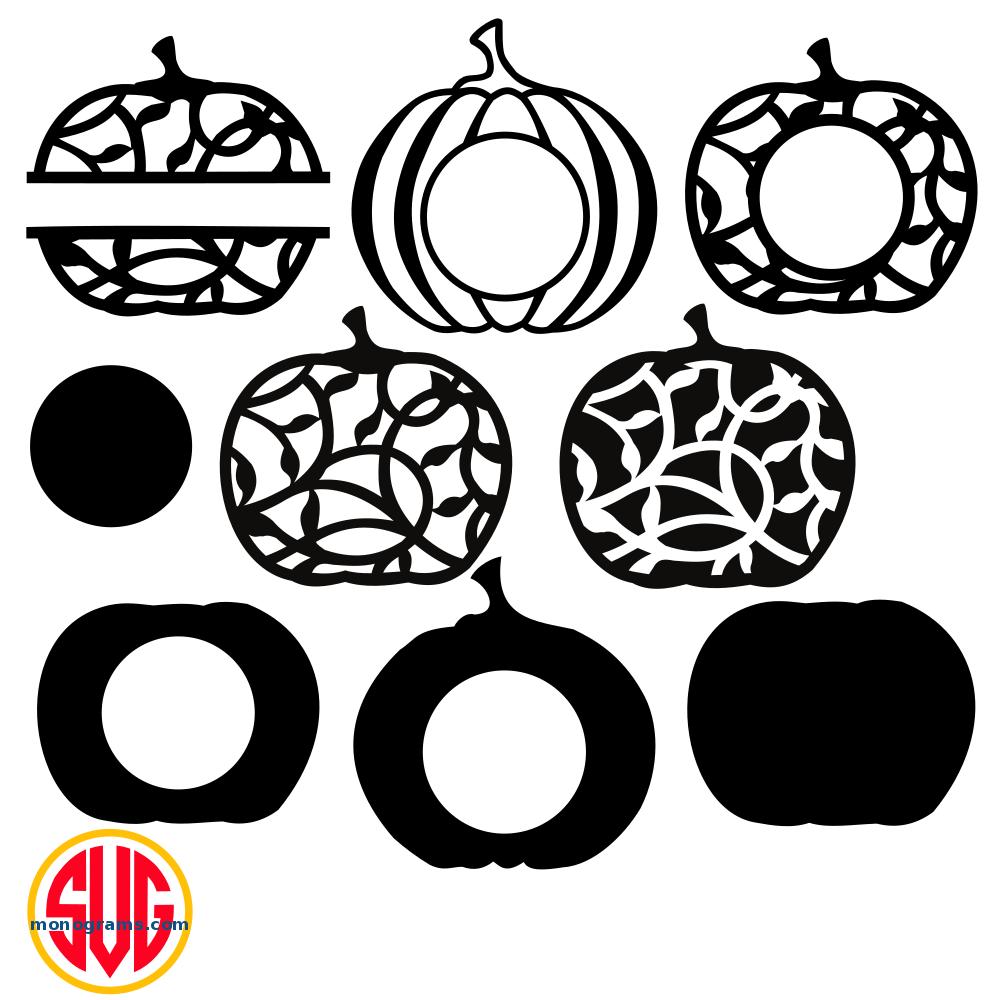 Pumpkin Frames for Monograms SVG DXF EPS – SVGmonograms