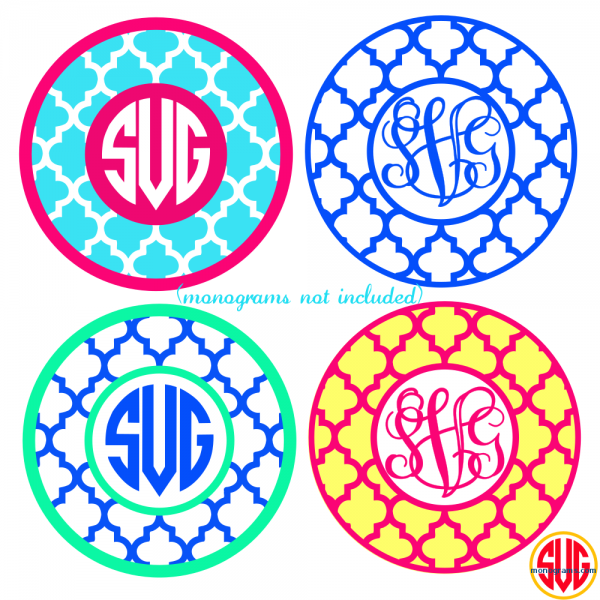 Quatrefoil Circle Frames for Monograms