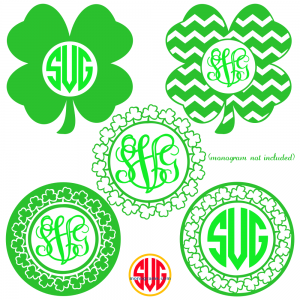 Shamrock and Shamrock Monogram Frames