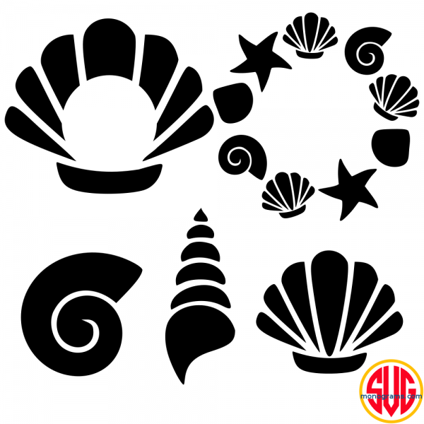 Shells and Shell Monogram Frames Files