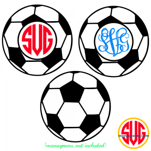 Soccer Ball and Soccer Ball Monogram Frame