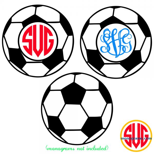 Soccer Ball and Soccer Ball Monogram Frame