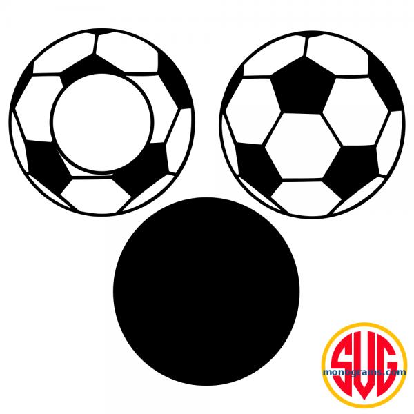 Soccer Ball and Soccer Ball Monogram Frame Files