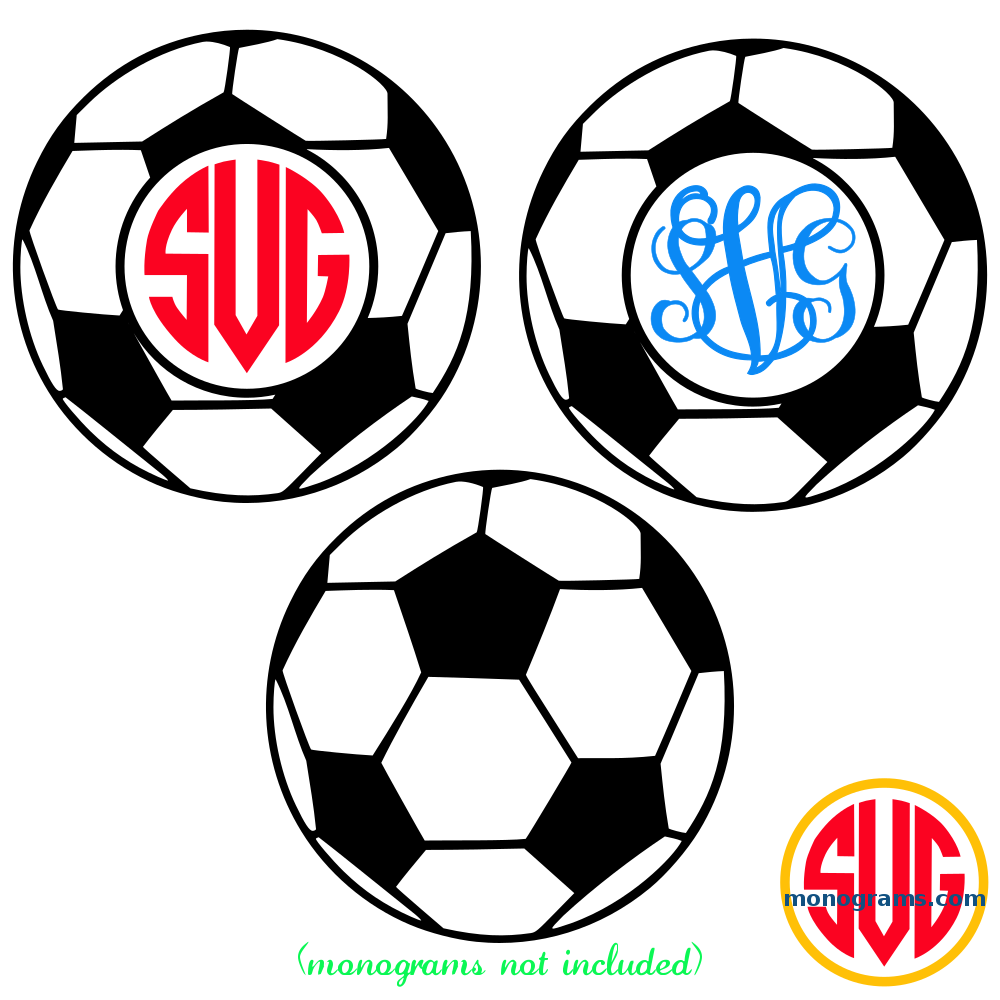 Soccer Ball Frame for Monograms SVG DXF EPS – SVGmonograms