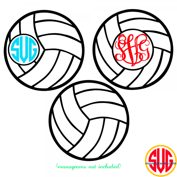 Volleyball and Volleyball Monogram Frame