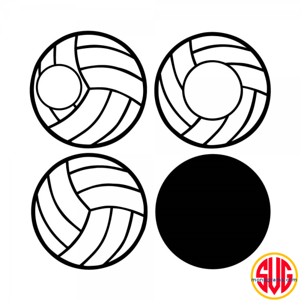Volleyball and Volleyball Monogram Frame Files