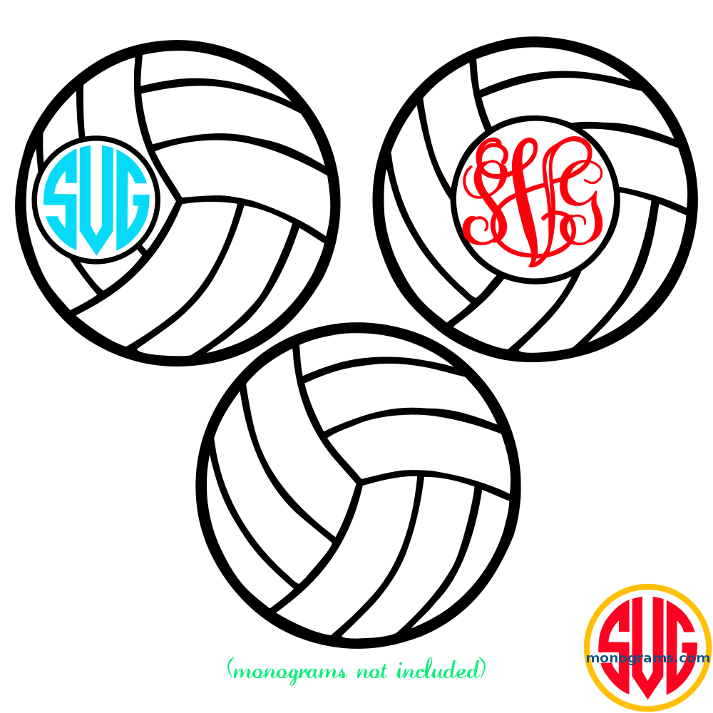 volleyball and volleyball monogram frame - Monogram Frame