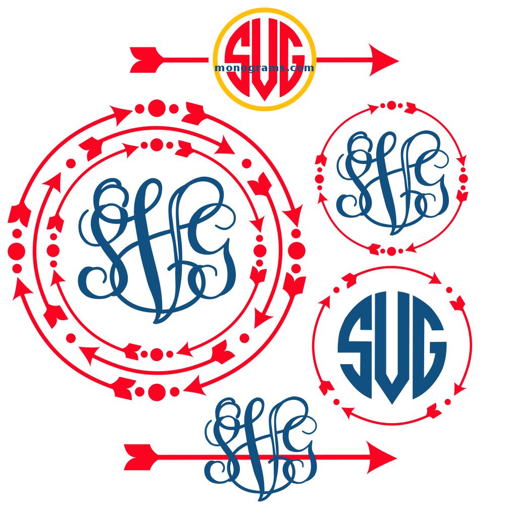 Arrows And Arrow Frames For Monograms Svgmonograms